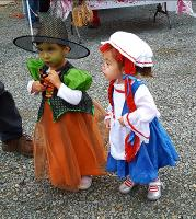 Little girls in costume